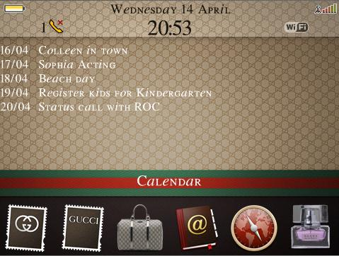 BlackBerry Gucci Theme