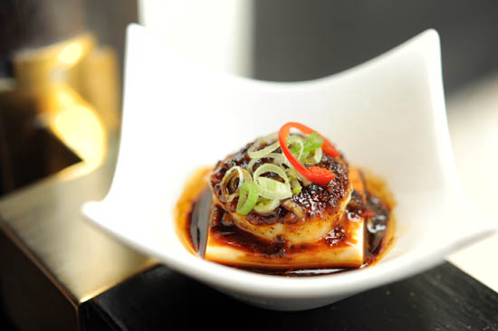Steamed Scallop with Silken Tofu
