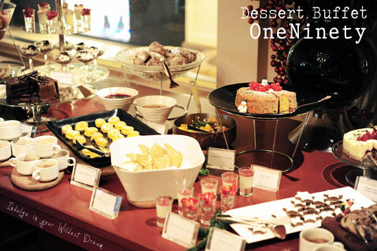 One Ninety Dessert Buffet Singapore