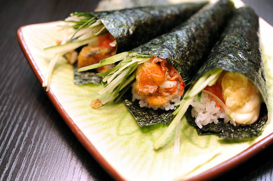 Japanese Sushi Hand Roll
