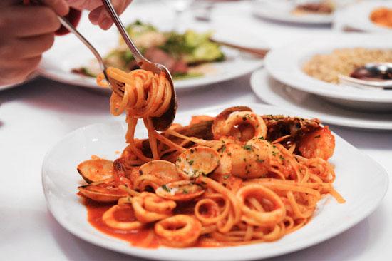 Pasta Brava Seafood Linguine