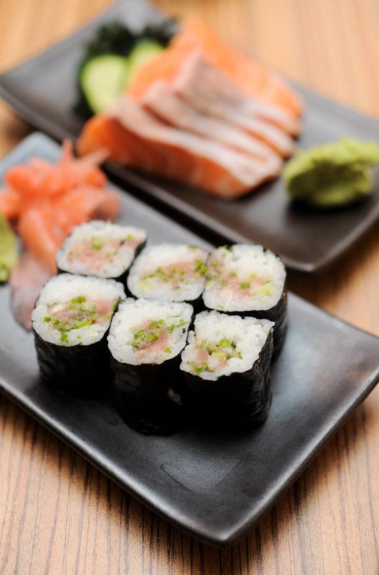 Tuna Belly roll sushi