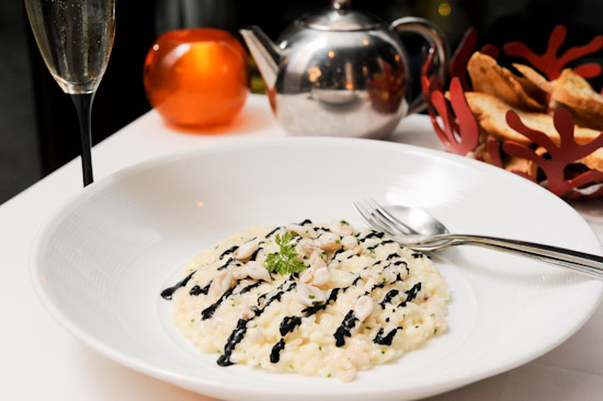 Risotto with black ink sauce