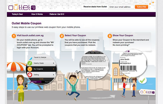 Outlet Mobile Coupon