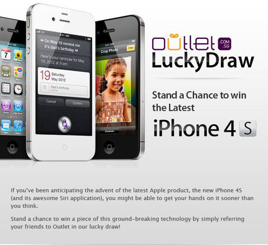 iPhone 4S Lucky Draw