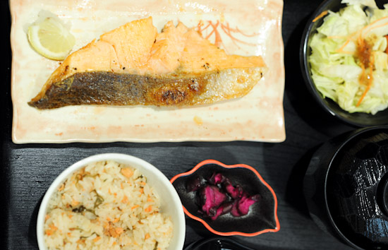 Salmon Okowa Rice