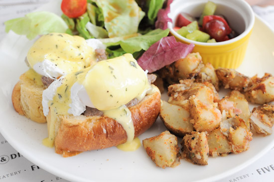Five and Dime Eggs Benny