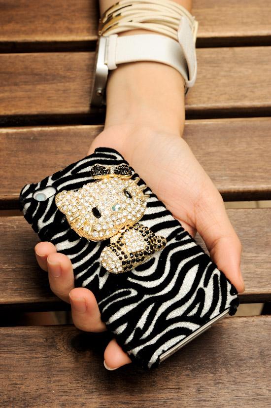 Hello Kitty Zebra Bling Case