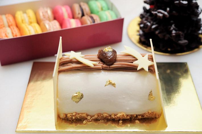 Canele Christmas Log Cake
