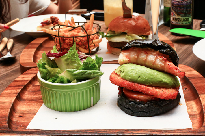 Lobster Squid Ink Burger