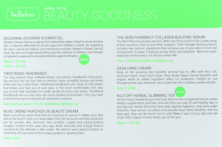 Bellabox Beauty Goodness Products