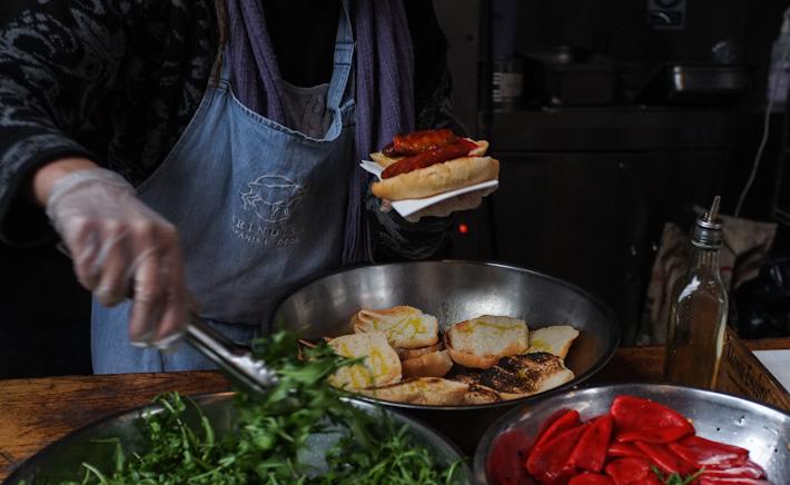 Brindisa's Chorizo Sandwich