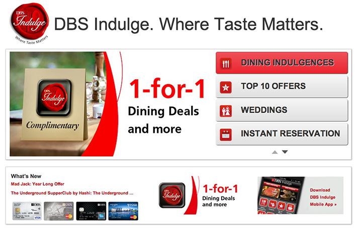 DBS Indulge App