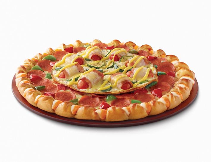 Pizza Hut Double Decker Pizza