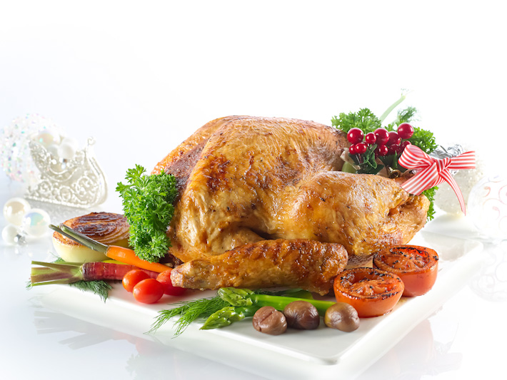 Traditional Roasted Whole Turkey with Chestnut Stuffing