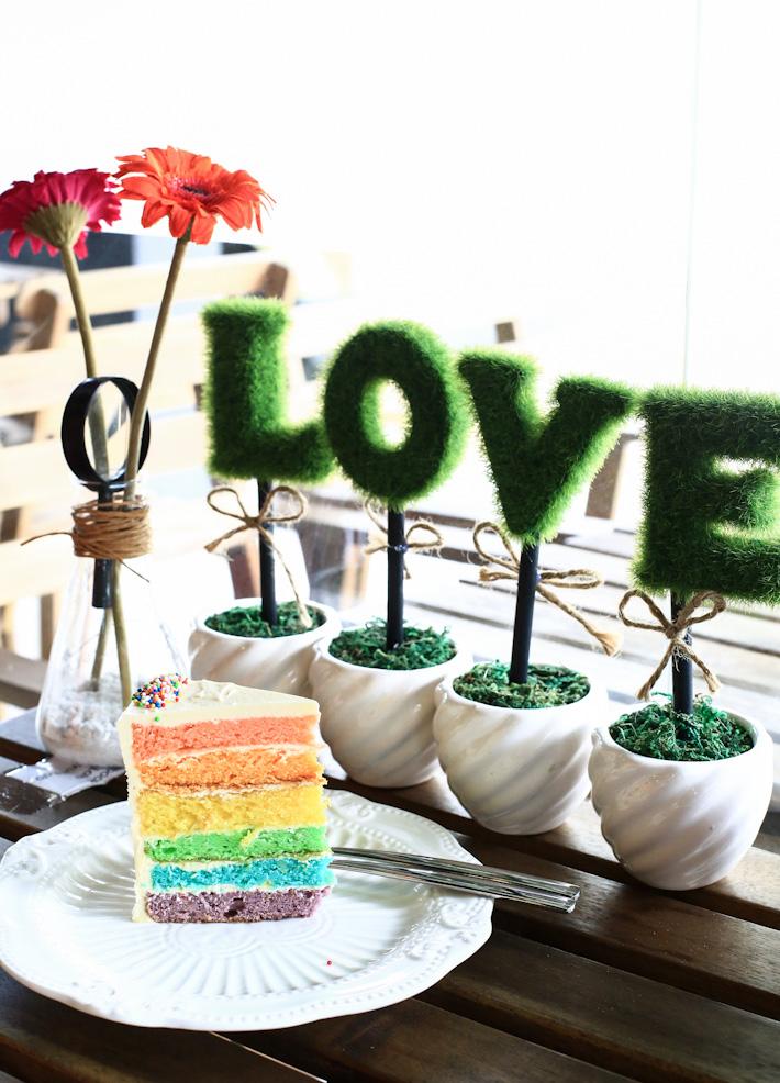 Rainbow Cake Love