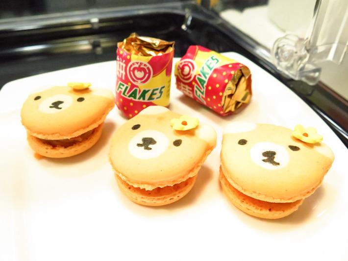 Haw flakes macarons
