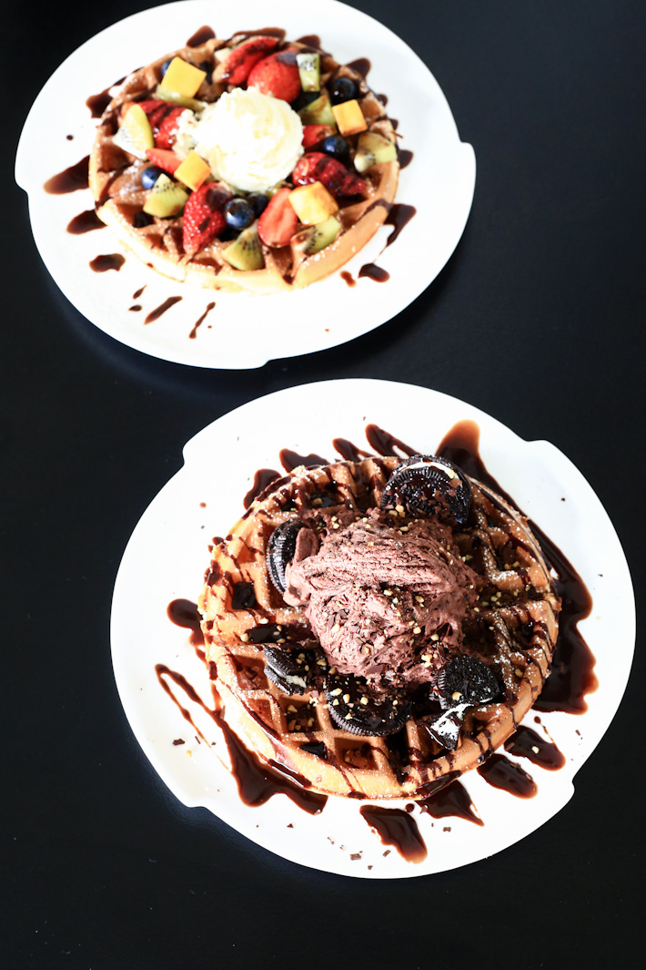 Snow Colors Waffles