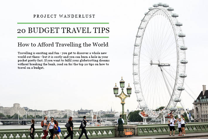 20 Budget Travel Tips