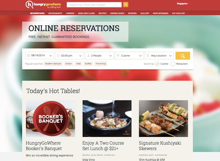 HungryGoWhere Reservations