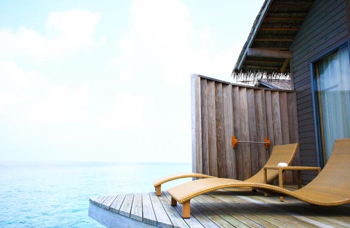 Maldives water villa