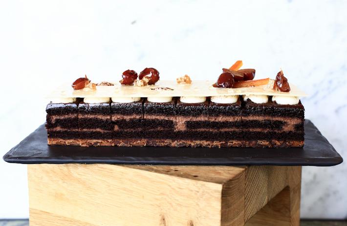Chocolate Red Date Gateaux