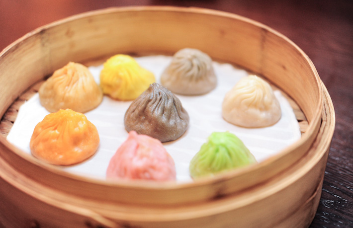 Colourful Xiaolongbao