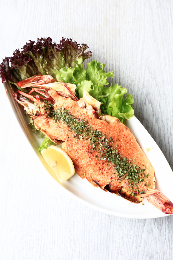 Grilled Prawn Mentaiko