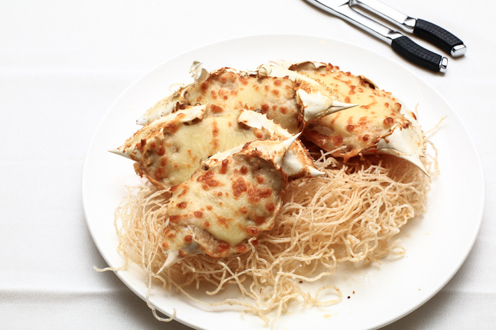 Crab with cheese