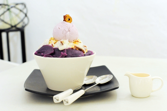 Cafe Insadong Sweet Potato Bingsu