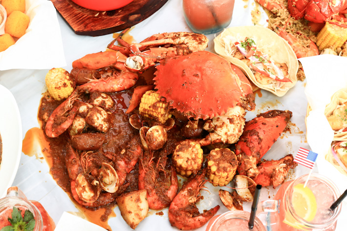 Dancing Crab Seafood Combo
