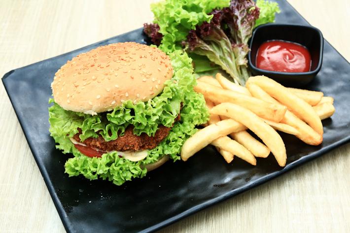 Lion Mane Mushroom Burger