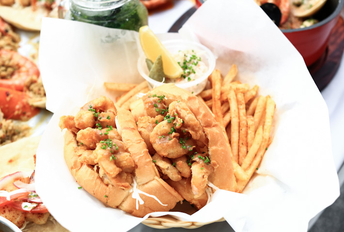 Popcorn Shrimp Sandwich