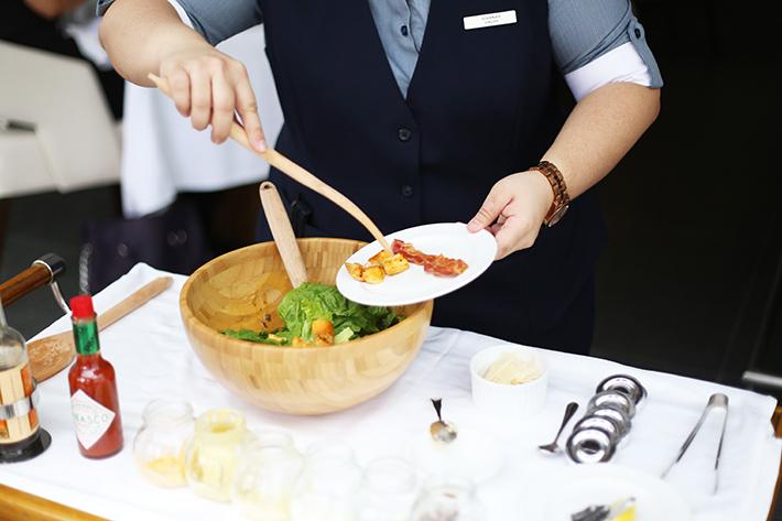 Tableside Salad Pool Grill