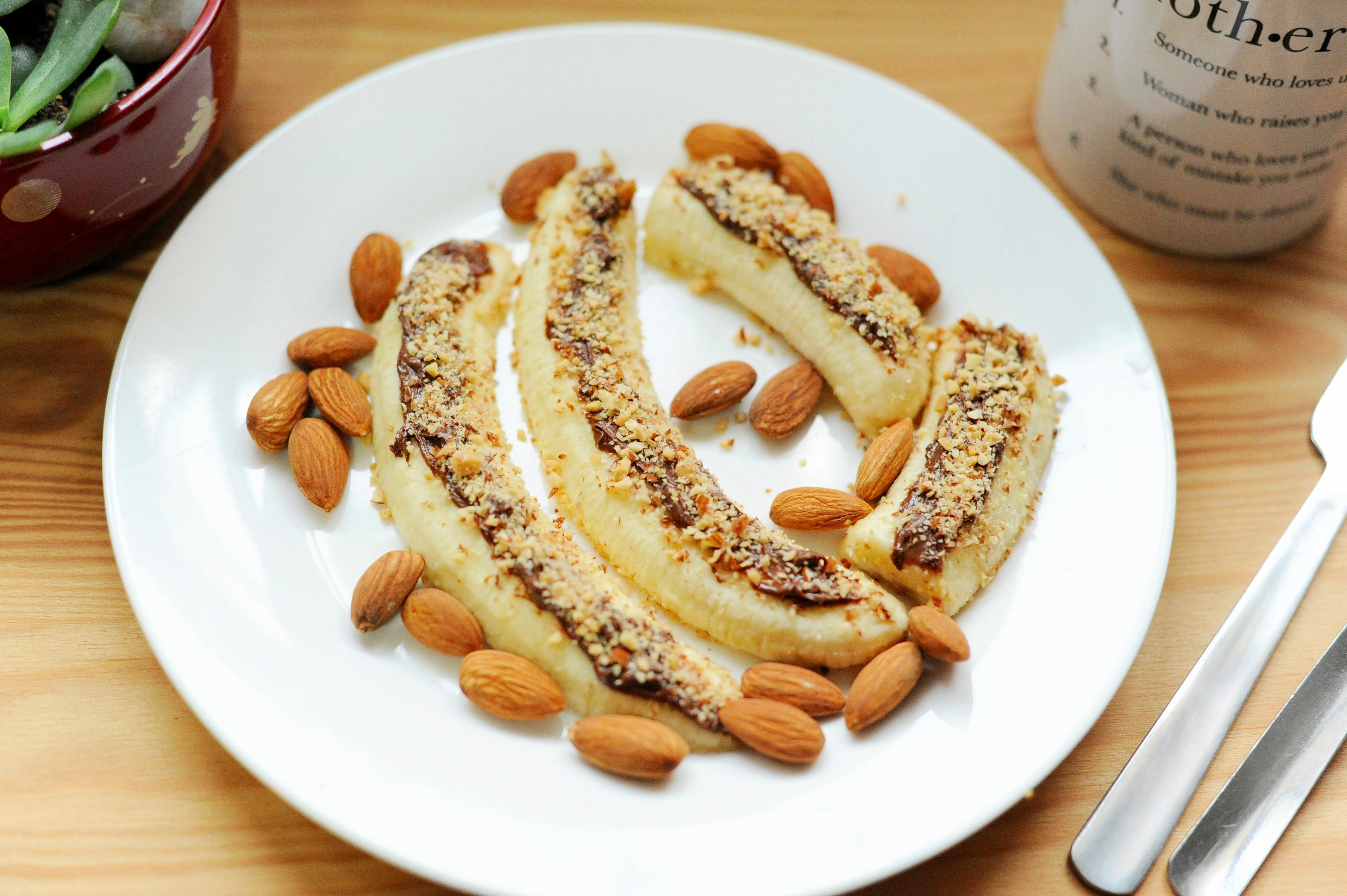 Nutella coated banana