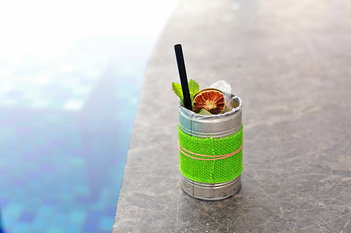 poire basil cocktail