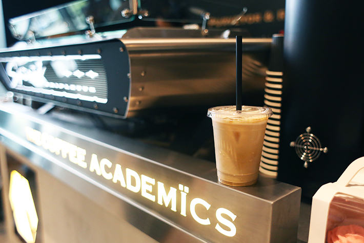 The Coffee Academics Coffee Machine and Iced Latte