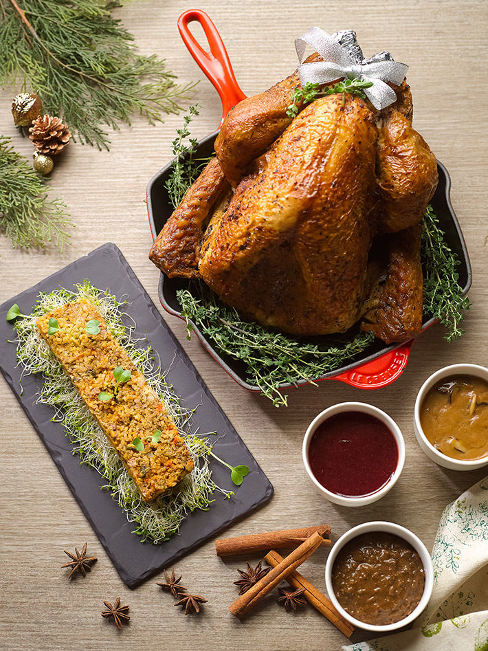 Roast Turkey with Basmati Lamb Keema Stuffing