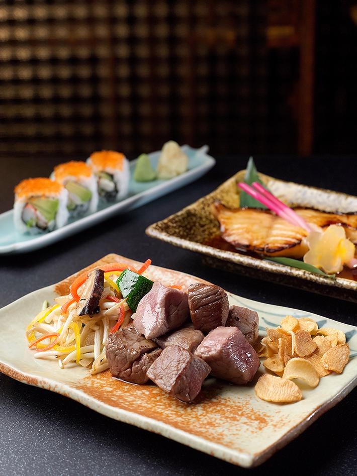 Sushi, Teppanyaki US Beef & Teriyaki Cod