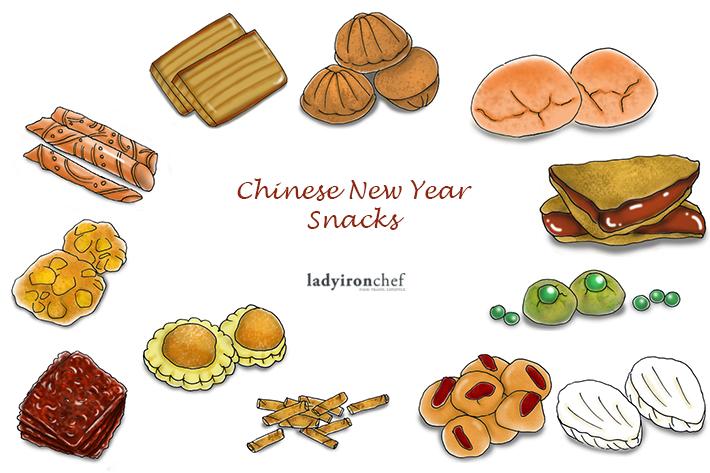 CNY Snacks Collage