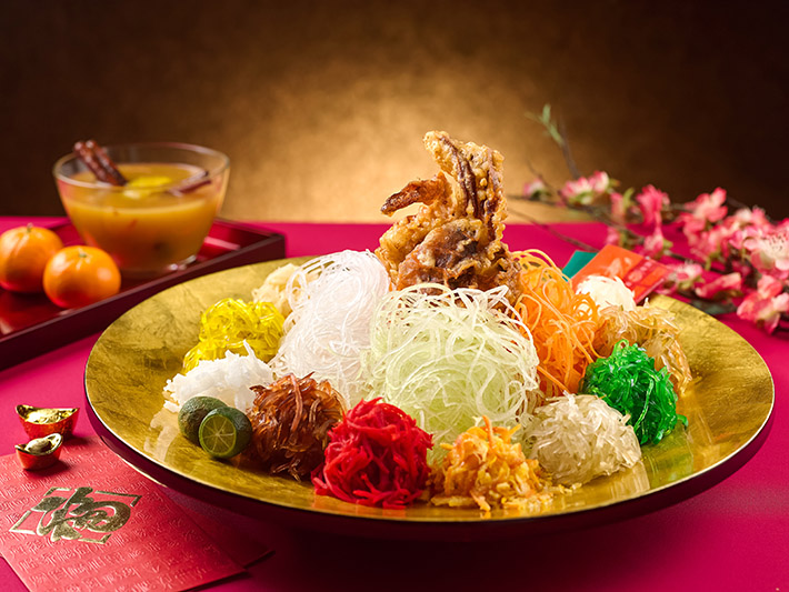Fruitfull Yusheng with Fruity Sauce Served with Soft-Shell Crab FINAL