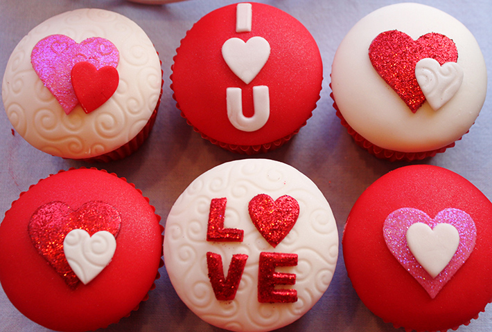 V Day Cupcakes