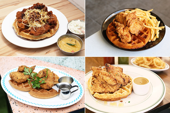 Chicken Waffles Collage
