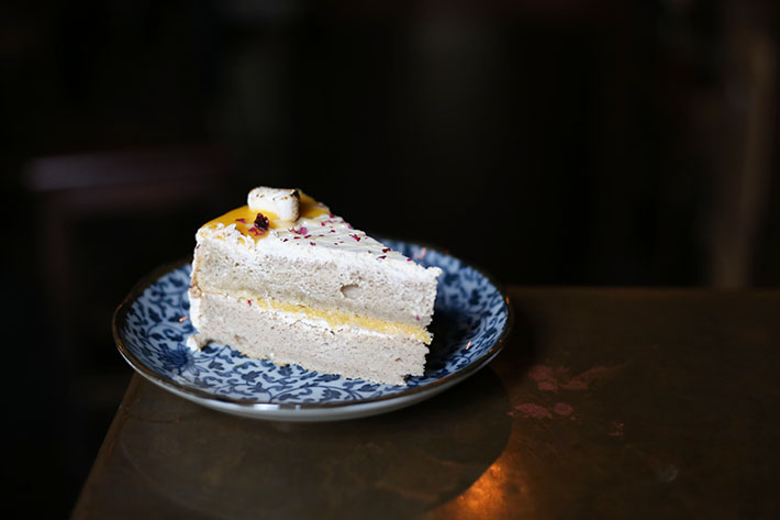 Dapper Coffee Salted Egg Cake
