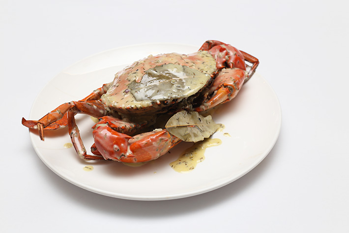Herb Garlic Crab