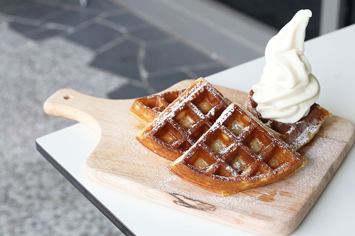 Honey Truffle Waffles