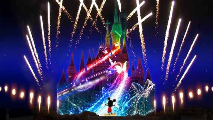 Shanghai Disney Light Show