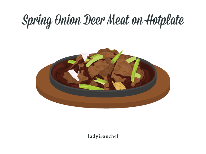 Spring Onion Deer Meat