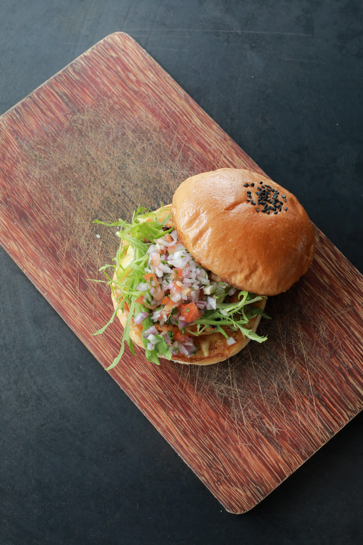 EwF Shrimp Salsa Burger