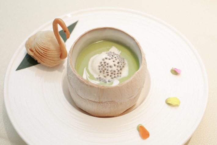 avocado coconut dessert